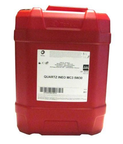 Total Quartz Ineo MC3 5W30 Engine Oil Euro 5- 20 Litre Drum