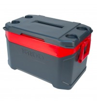 Igloo Coolbox Latitude 50 Jet Carbon / Red Heat Cool box Holds 85 x 12oz Can 47 Litres