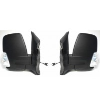 Ford Transit Mk8 Door Mirror Power Folding Clear Indicator 2014> Pair