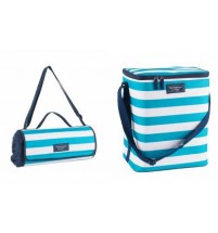Family 20 Litre Cooler Insulated Cool Bag 20L And Matching Blanket Picnic Rug