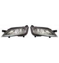 Peugeot Boxer Headlight Chrome Inner Incl.LED Daytime Running Lamp Pair 5/2014>