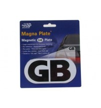 Magnetic GB Plate for Driving in Europe