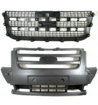 Ford Transit Mk7 2006-2013 Front Centre Bumper Grille With Radiator Mesh Black