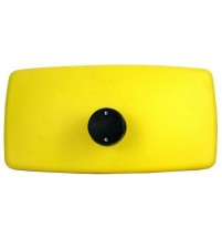Bus Coach Main Mirror Non Heated 16-28mm Arm 384mm x 194mm Yellow