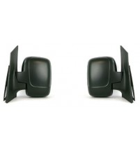 Toyota Proace Door Mirror Single Glass Cable Black Textured 2007> Pair